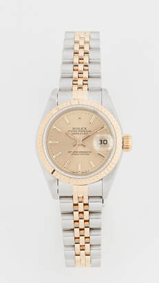 Rolex Pre-Owned Ladies Champagne Stk Dial, Fluted Bezel, Jubilee Band