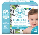 The Honest Company T-Rex/Trains Size 4 Club Box Diapers