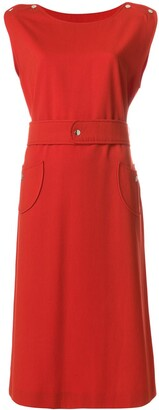 Courreges Pre-Owned belted midi dress