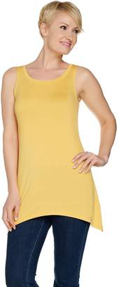 Logo By Lori Goldstein LOGO Layers by Lori Goldstein Tank with High Slit at Asymmetric Hem