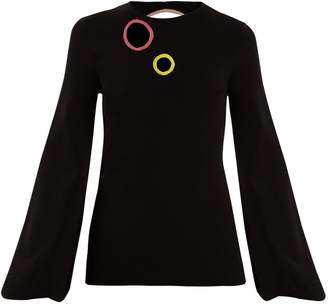 Roksanda Saher blouson-sleeve cut-out sweater