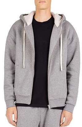 The Kooples Zip-Front Sweatshirt with Fleece-Lined Hood