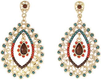Sparkling Sage Flirty Filigree 14K Plated Drop Earrings