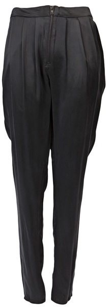 FUNKTIONAL Silk pleated trousers