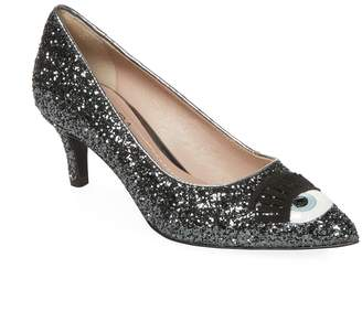 Chiara Ferragni Women's Point Toe Glitter Pump
