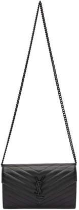 Saint Laurent Black Medium Wallet Chain Bag