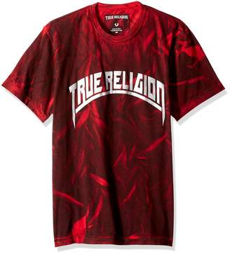 True Religion Men's Metallic Arch Short Sleeve Crew Neck TEE, XL