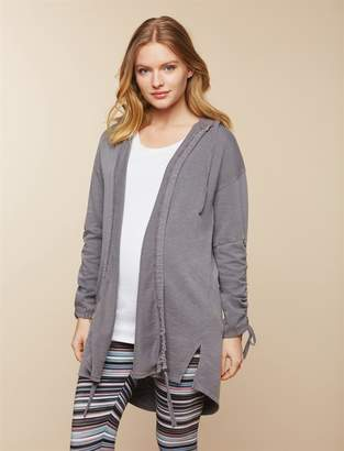 Motherhood Maternity Lace Up Sleeve Maternity Jacket