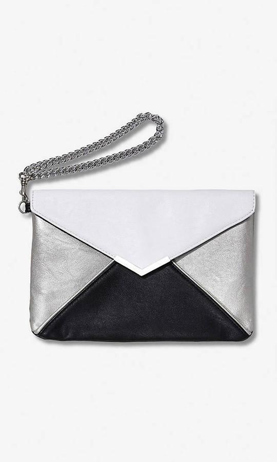 Express Color Block Envelope Wristlet