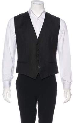 Christian Dior Striped Wool Suit Vest