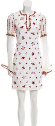 Andrew Gn Silk-Blend Embroidered Dress