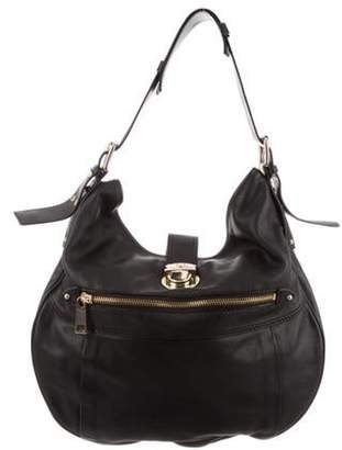 Marc Jacobs Grained Leather Hobo Black Grained Leather Hobo