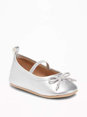 Old Navy Metallic Faux-Leather Ballet Flats for Baby