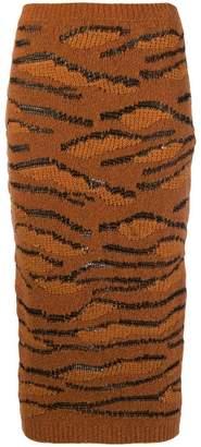 Stella McCartney tiger knit pencil skirt