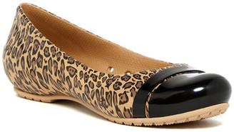 Crocs Cap Toe Leopard Print Flat (Women) $44.99 thestylecure.com