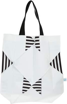 Issey Miyake Striped Detail Shopper Bag