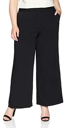 Nine West Women's Plus Size Crepe Wide Leg Trouser Pant