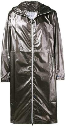 Oakley By Samuel Ross metallic zipped coat