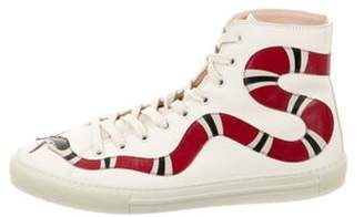 Gucci Major Snake High-Top Sneakers gold Major Snake High-Top Sneakers