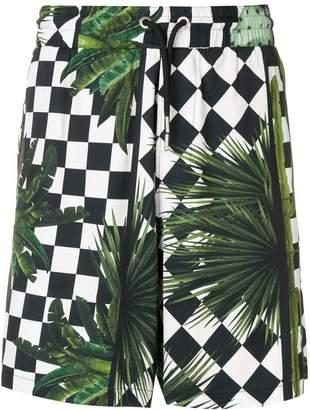 Just Cavalli checker printed shorts