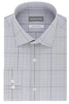 Michael Kors Regular-Fit Exploded Check Dress Shirt
