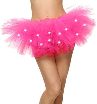 Simplicity Light up Tutu LED Light Up Running Costume Glow Night 5K Run Tutu Skirt