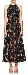 Derek Lam Women's Floral Silk Maxi Dress - Black Multi