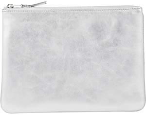 Comme des Garcons Women's Large Zip Pouch - Silver