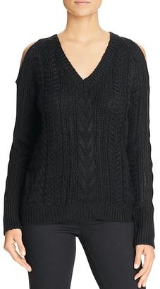 John + Jenn Cold Shoulder Cable Knit Sweater - 100% Exclusive $125 thestylecure.com