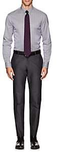 Armani Collezioni MEN'S STRIPED COTTON OXFORD CLOTH DRESS SHIRT-DK. BLUE SIZE 16.5