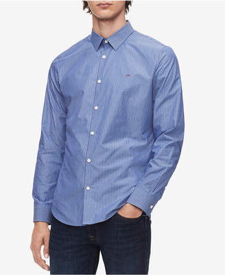 Calvin Klein Men's French Placket Striped Shirt