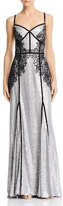 Tadashi Shoji Embellished Sequined Gown