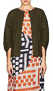 Zero Maria Cornejo Women's Beetle Cotton-Blend Shrug Jacket - Green