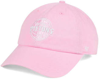 '47 Women's Detroit Pistons Petal Pink Clean Up Cap
