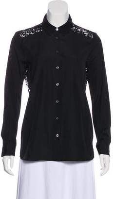 Burberry Lace Contrast Top