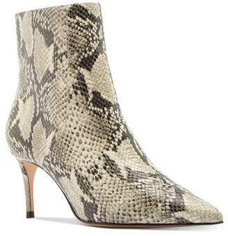 Schutz Women's Bette Snake-Embossed High-Heel Booties