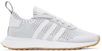 adidas Originals White & Grey Flashback Sneakers $120 thestylecure.com