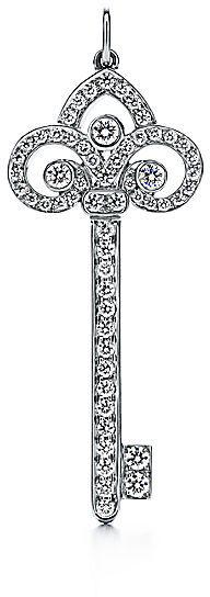 Tiffany & Co. Keys:Fleur de Lis Key Pendant