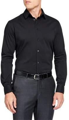 Giorgio Armani Men's Solid Long-Sleeve Sport Shirt