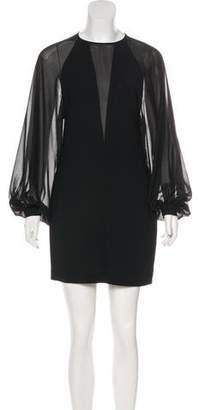 Robert Rodriguez Mini Sheer-Paneled Dress w/ Tags