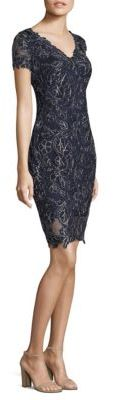 Tadashi Shoji Floral Lace Overlay Sheath Dress $390 thestylecure.com