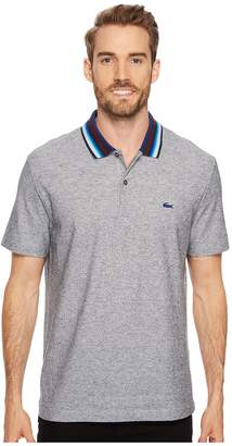 Lacoste Holiday Short Sleeve Slubbed Pique Polo - Regular Fit Men's Short Sleeve Pullover