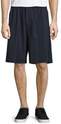 Alexander Wang Pinstripe Board Shorts, Midnight $375 thestylecure.com