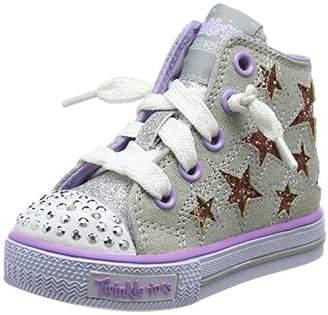 Skechers Girls' Shuffles-Lil Rockin Stars Trainers, (Black/Neon Pink), 6 UK Child 23 EU