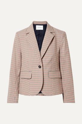 Frame Checked Cotton-blend Blazer - Brown