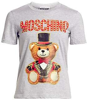 3b0a3984 Moschino Gray Women's Tees And Tshirts - ShopStyle
