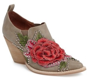 Women's Jeffrey Campbell Roseola Studded Applique Bootie $164.95 thestylecure.com