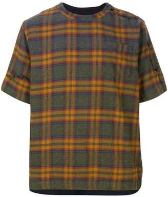 Sacai plaid T-shirt