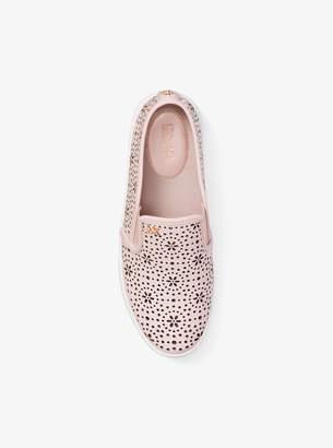 MICHAEL Michael Kors Trent Perforated Leather Slip-On Sneaker