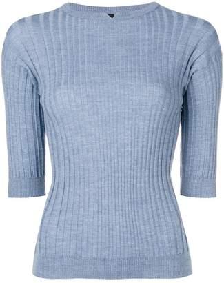 Sara Lanzi ribbed half sleeved pullover